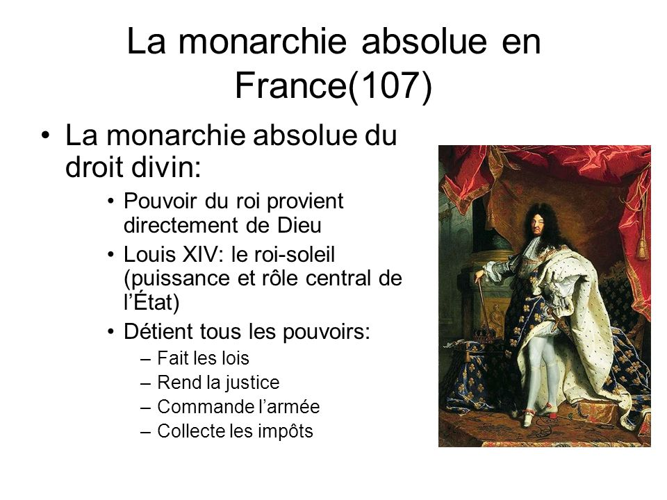 La monarchie absolue en France(107)