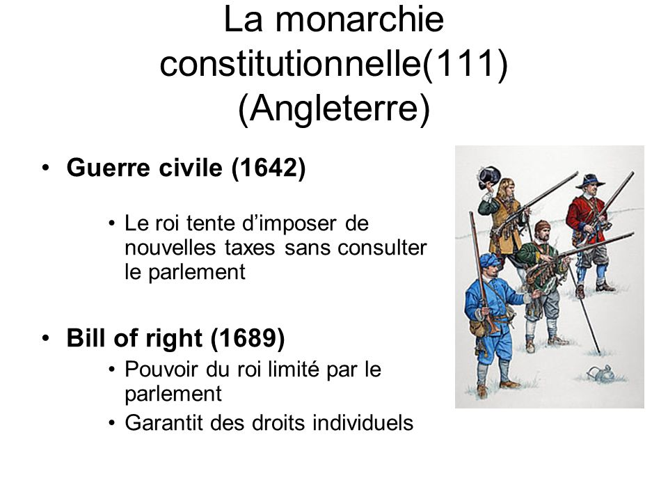 La monarchie constitutionnelle(111) (Angleterre)