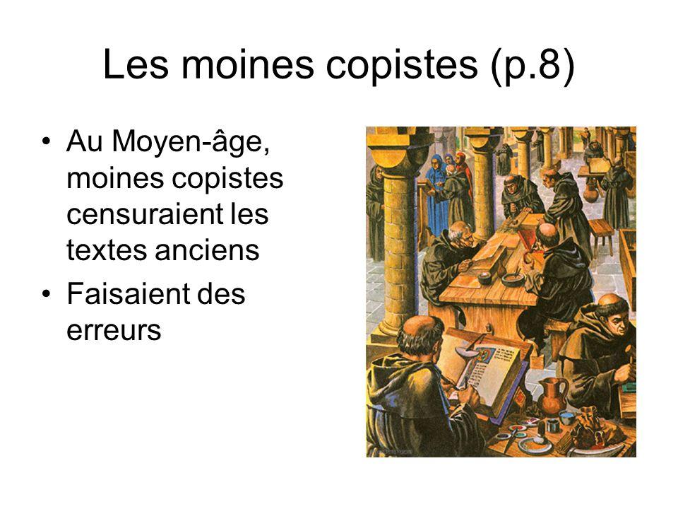 Les moines copistes (p.8)