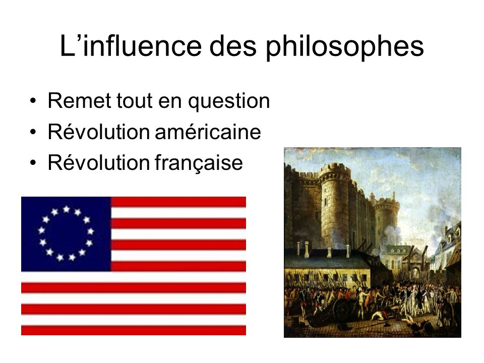 L'influence des philosophes