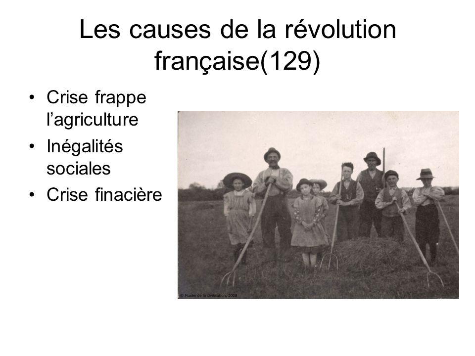 Les causes de la révolution française(129)
