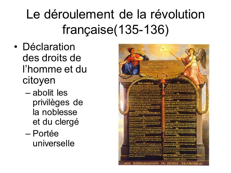 Le déroulement de la révolution française(135-136)