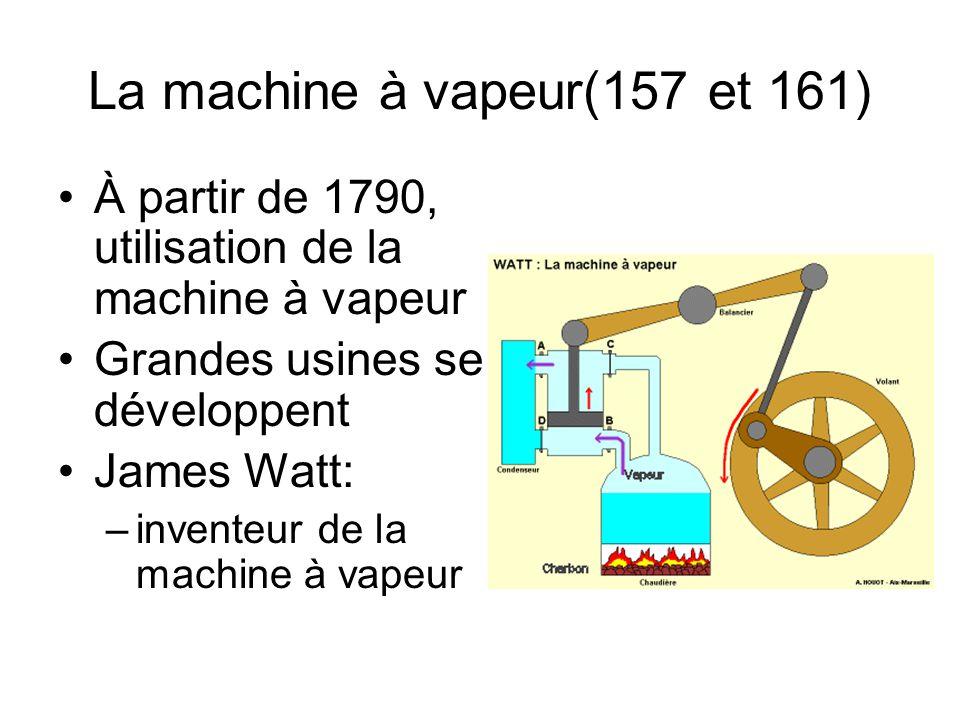 La machine à vapeur(157 et 161)