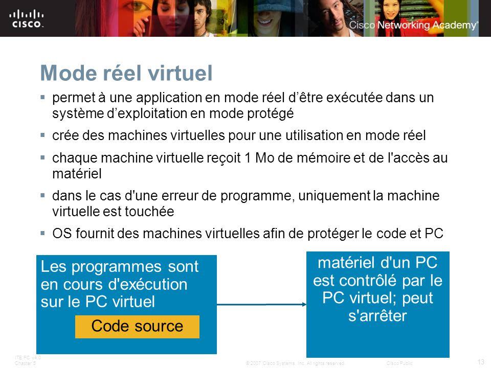 matériel d un PC est contrôlé par le PC virtuel; peut s arrêter