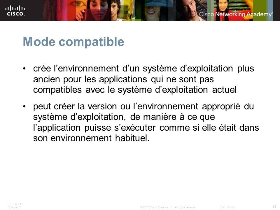 Mode compatible