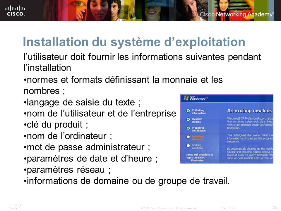 Installation du système d'exploitation