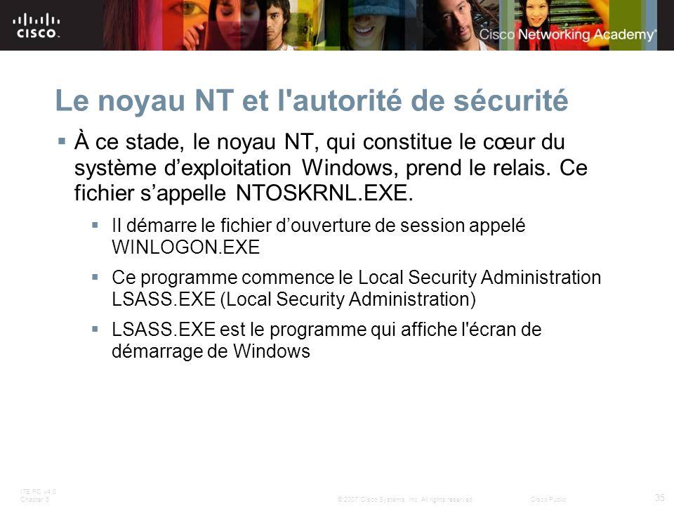 Le noyau NT et l autorité de sécurité