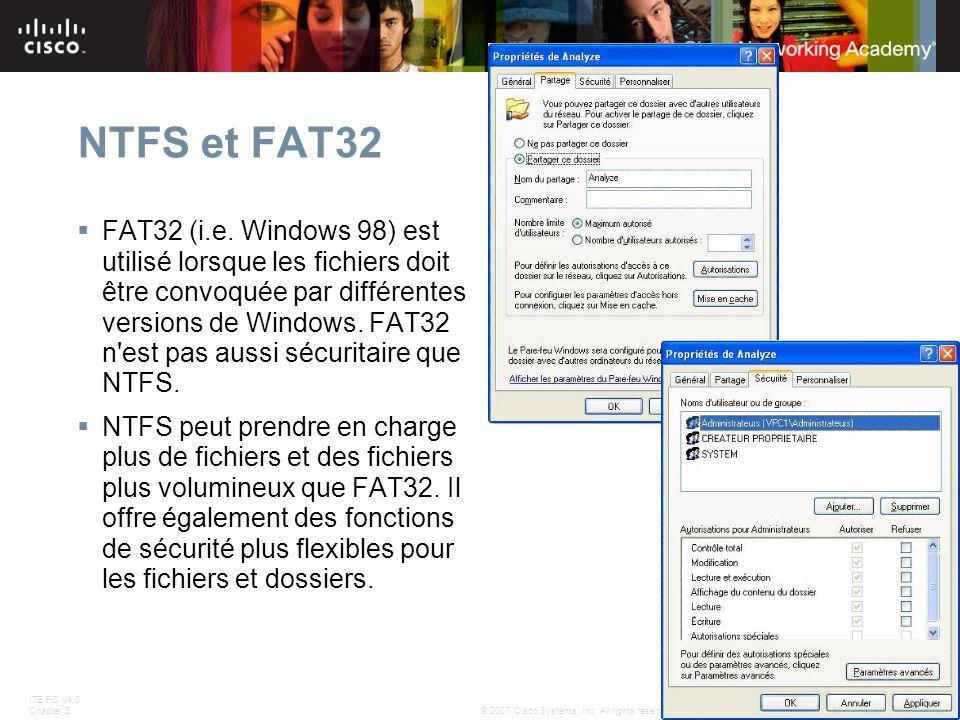 NTFS et FAT32