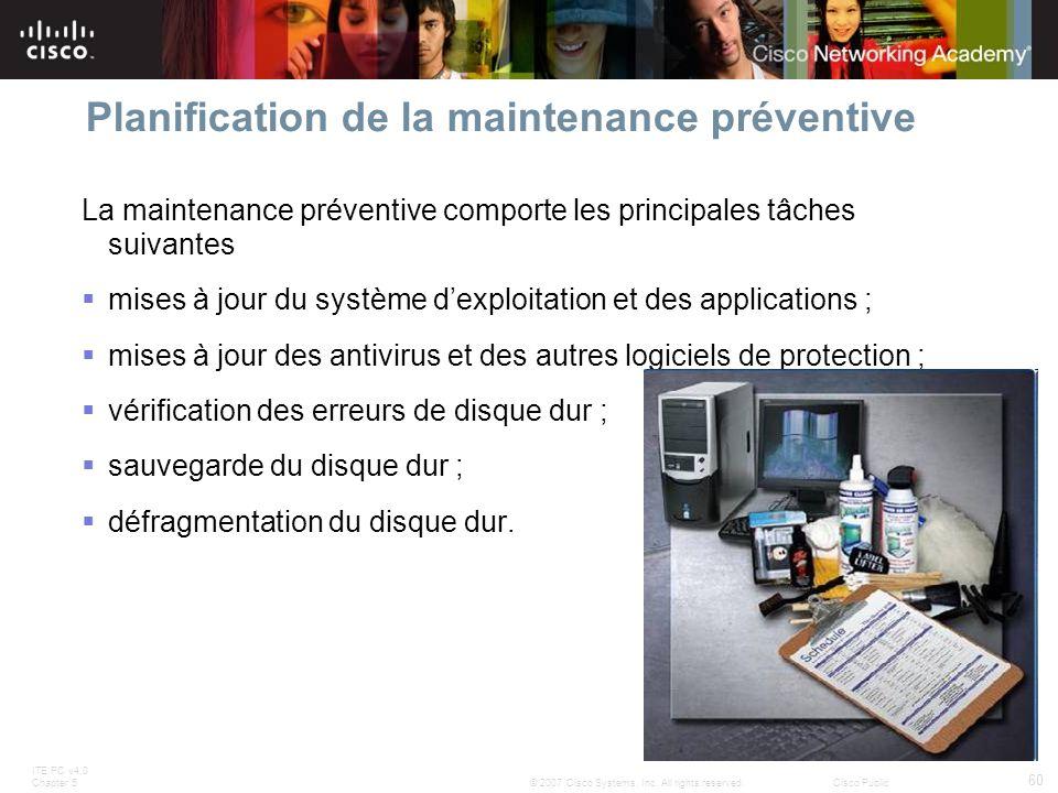 Planification de la maintenance préventive