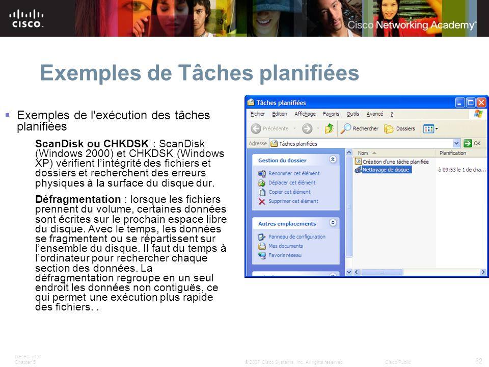 Exemples de Tâches planifiées