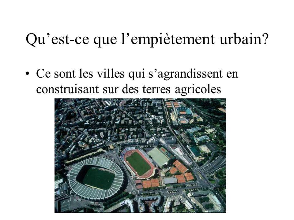 Qu'est-ce que l'empiètement urbain