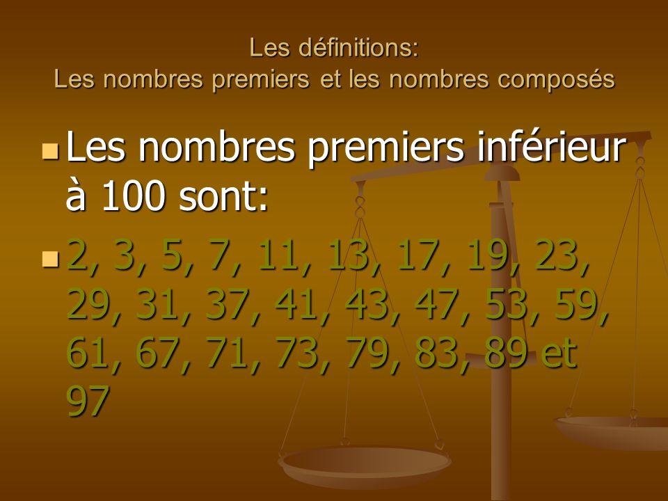 Les d finitions les nombres premiers et les nombres for Le nombre 13 film