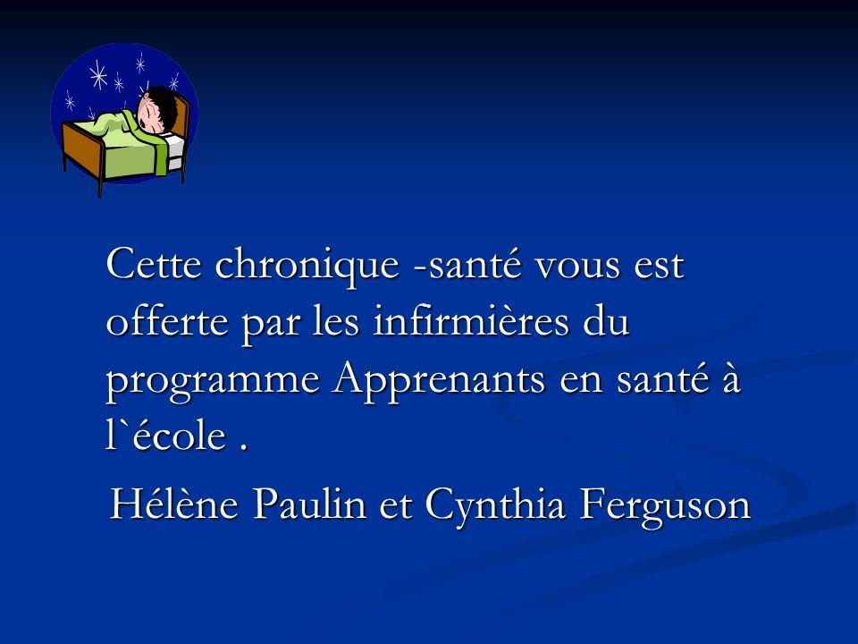 Hélène Paulin et Cynthia Ferguson