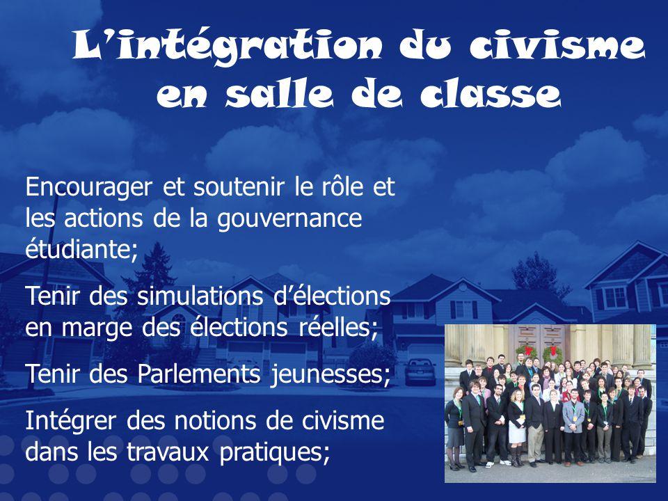 L'intégration du civisme en salle de classe