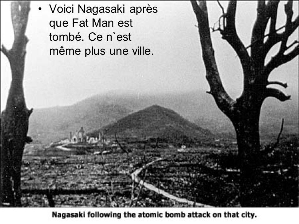 Voici Nagasaki après que Fat Man est tombé
