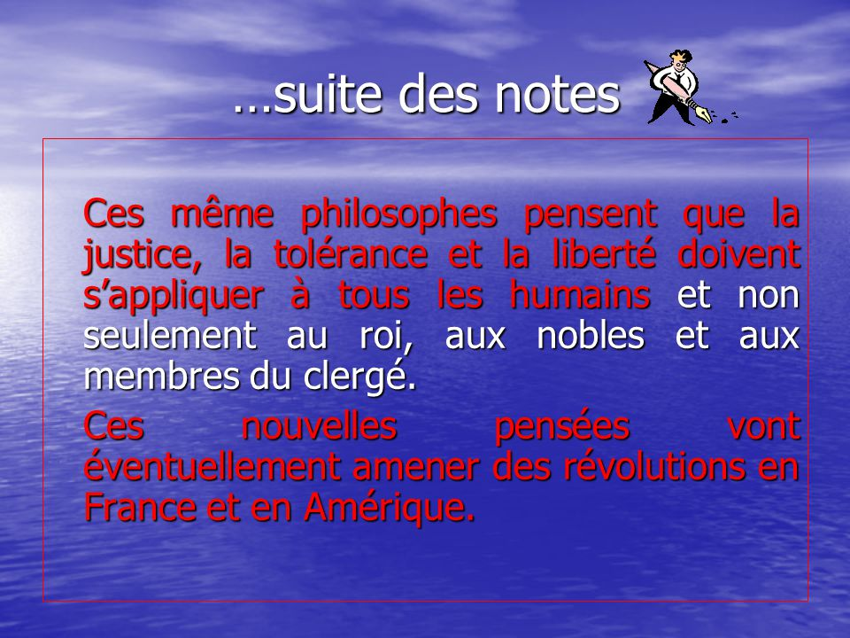 …suite des notes