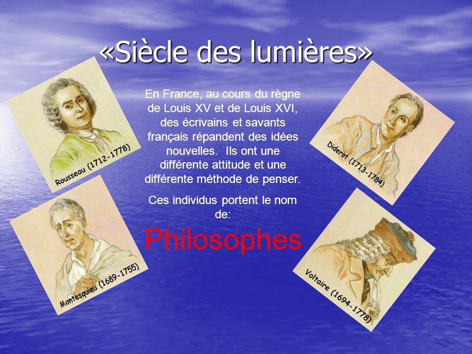 Ces individus portent le nom de: Philosophes