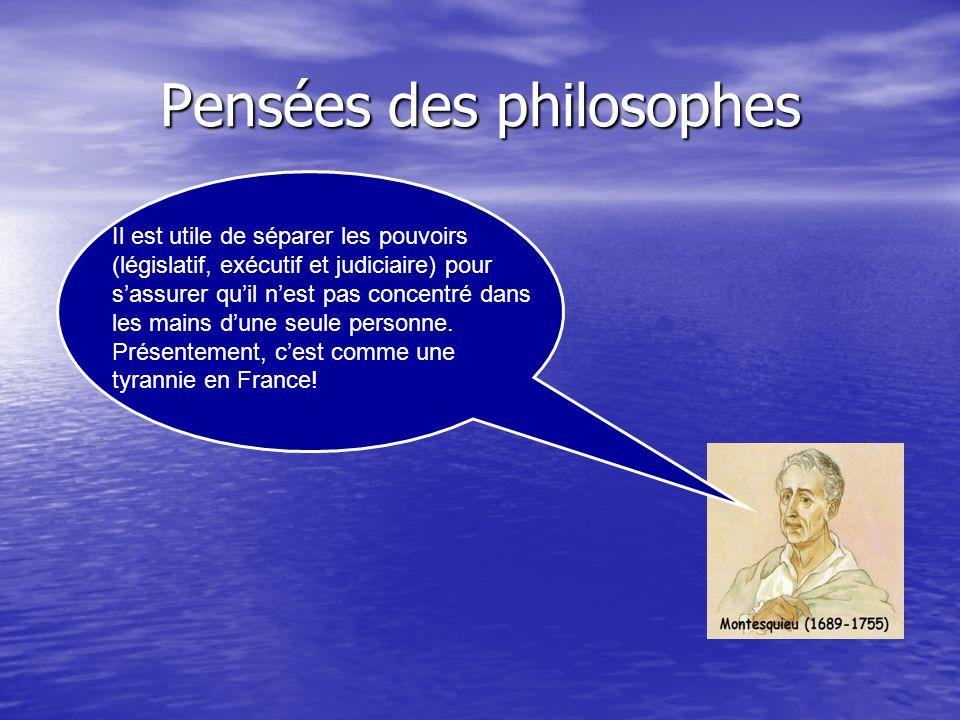 Pensées des philosophes