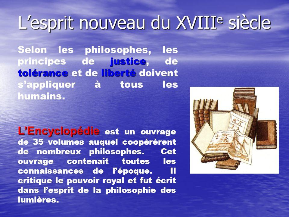 L'esprit nouveau du XVIIIe siècle