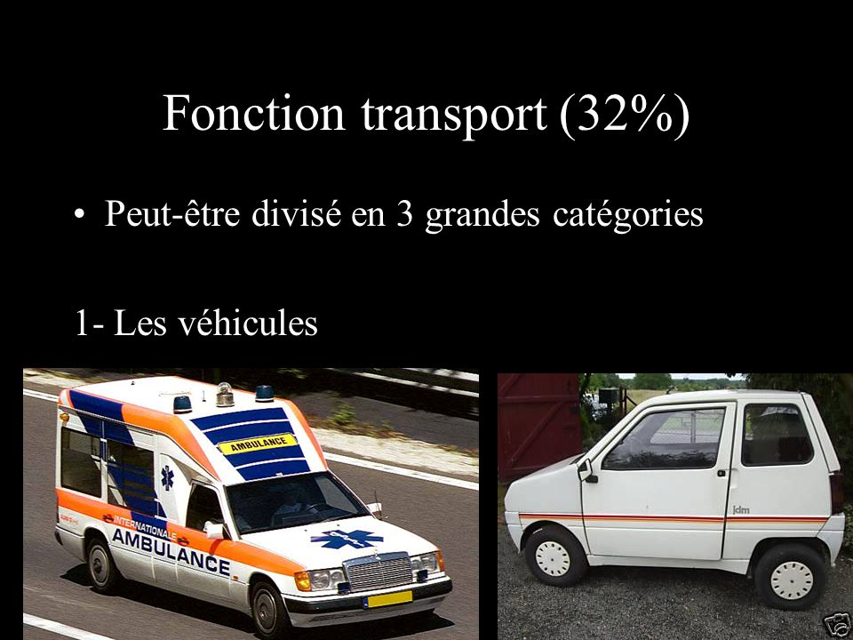 Fonction transport (32%)