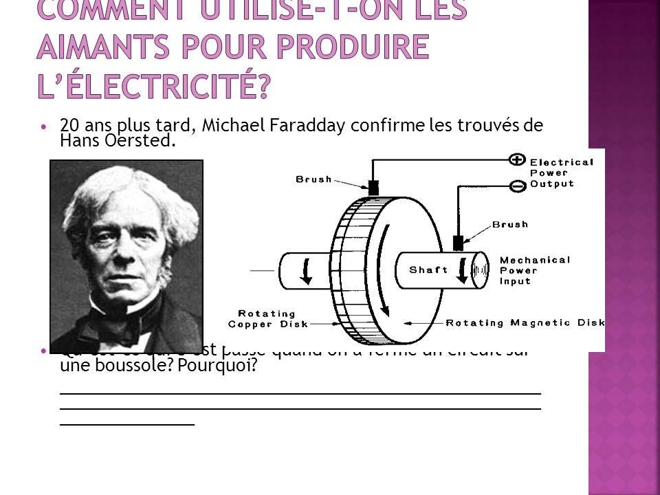 Comment utilise-t-on les aimants pour produire l'électricité