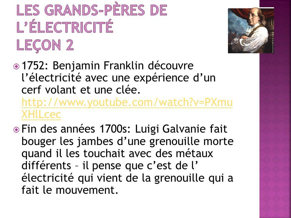 Les grands-pères de l'électricité leçon 2