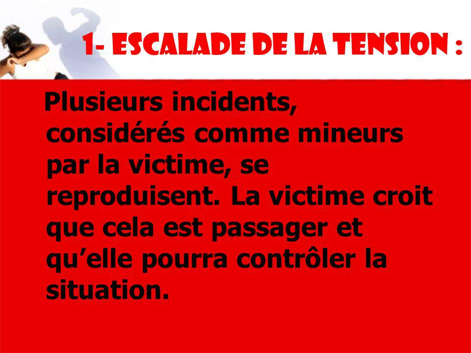 1- Escalade de la tension :