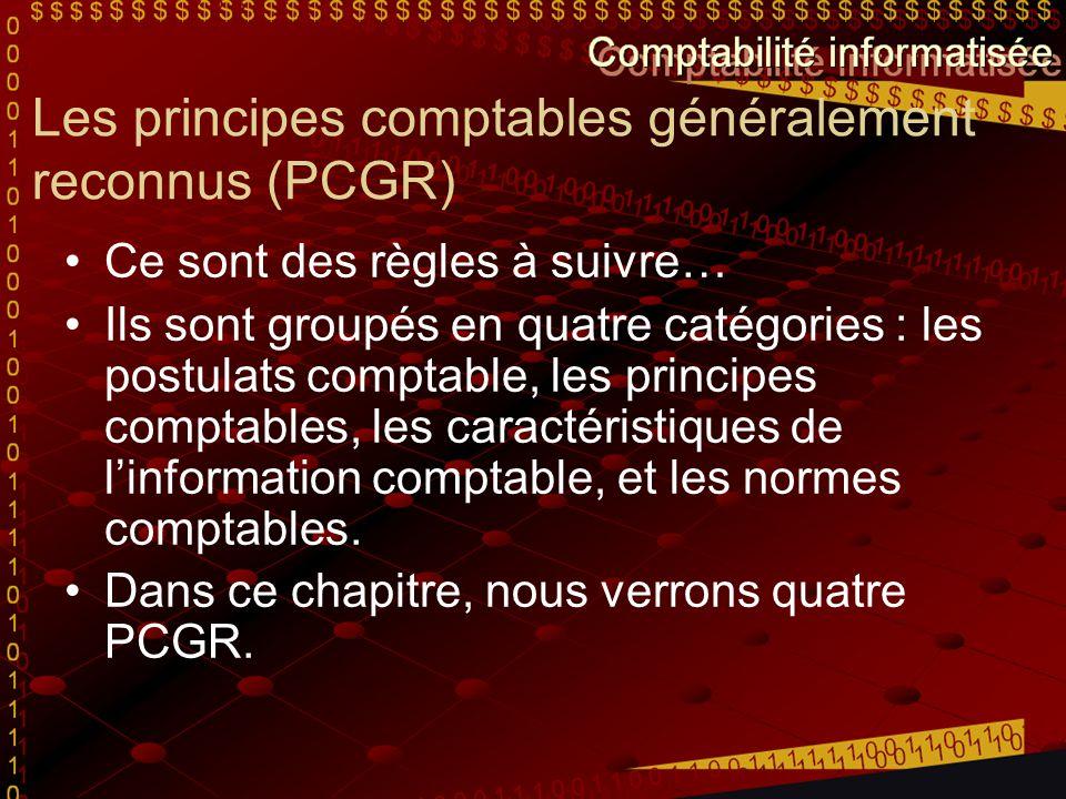 Les principes comptables généralement reconnus (PCGR)