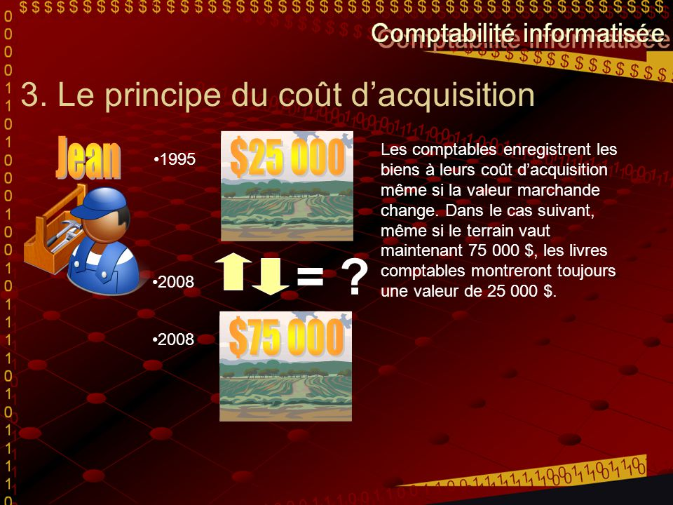 3. Le principe du coût d'acquisition