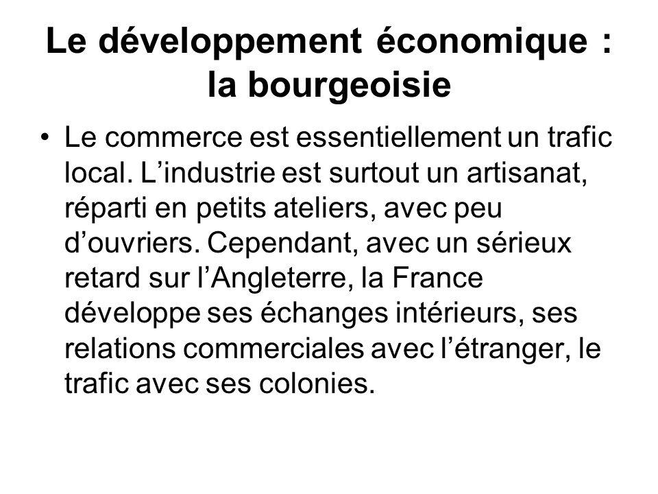 Le développement économique : la bourgeoisie