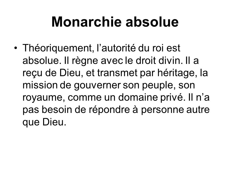 Monarchie absolue