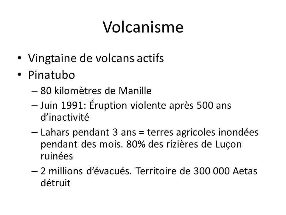 Volcanisme Vingtaine de volcans actifs Pinatubo