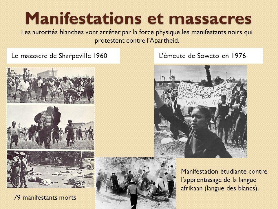 Manifestations et massacres