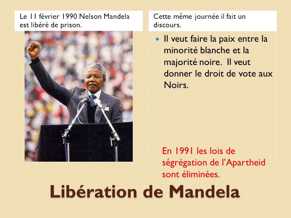 Le 11 février 1990 Nelson Mandela est libéré de prison.