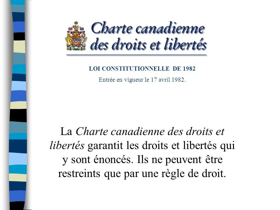 LOI CONSTITUTIONNELLE DE 1982