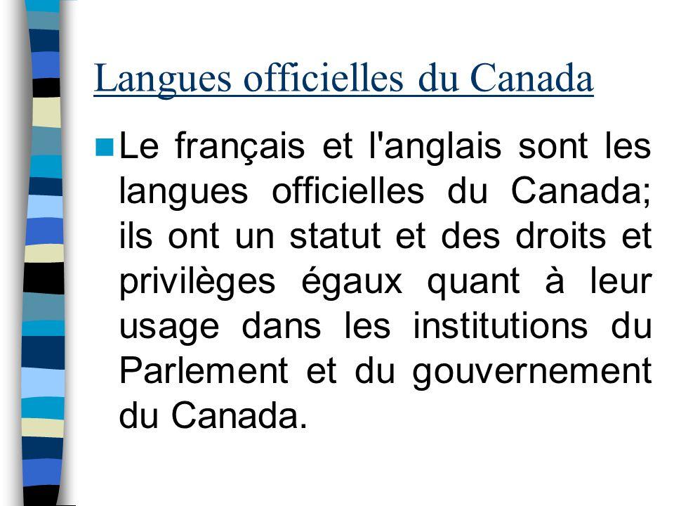 Langues officielles du Canada