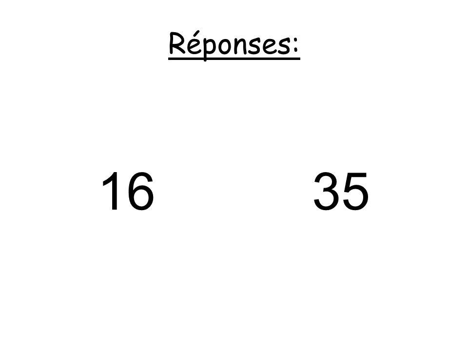 Réponses: 16 35