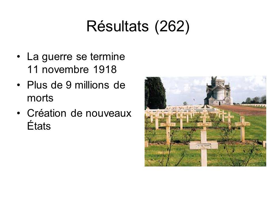 Résultats (262) La guerre se termine 11 novembre 1918