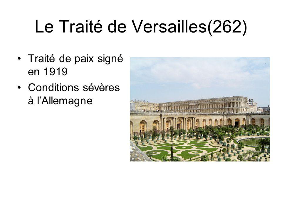 Le Traité de Versailles(262)