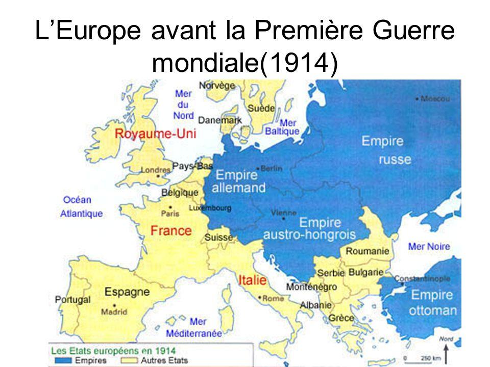 L'Europe avant la Première Guerre mondiale(1914)