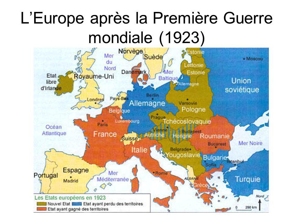 L'Europe après la Première Guerre mondiale (1923)