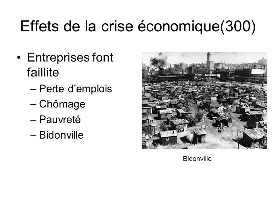Effets de la crise économique(300)