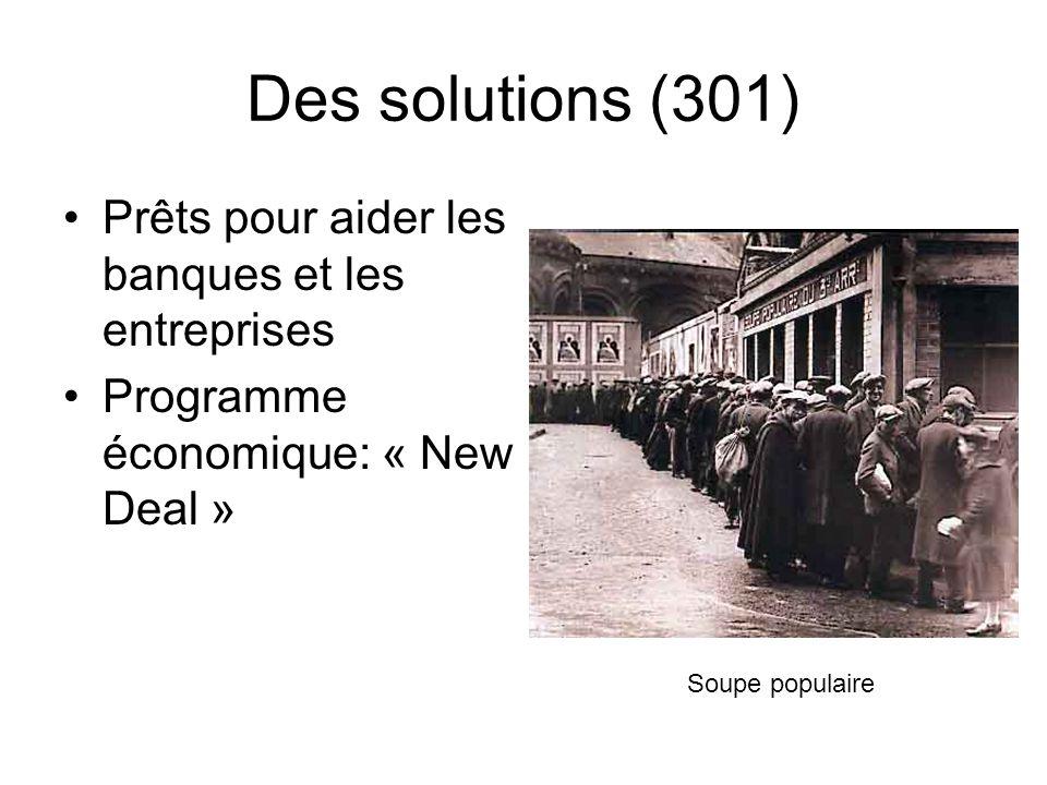 Des solutions (301) Prêts pour aider les banques et les entreprises