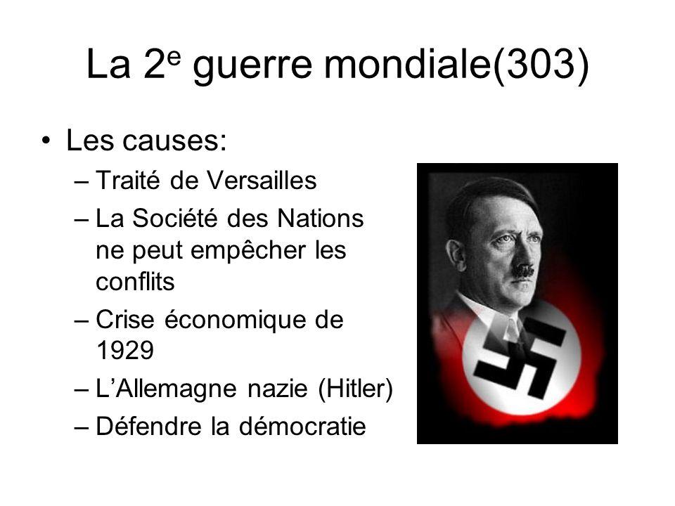 La 2e guerre mondiale(303) Les causes: Traité de Versailles