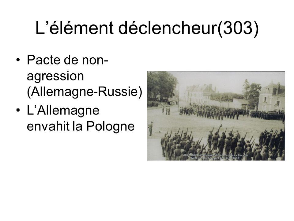 L'élément déclencheur(303)