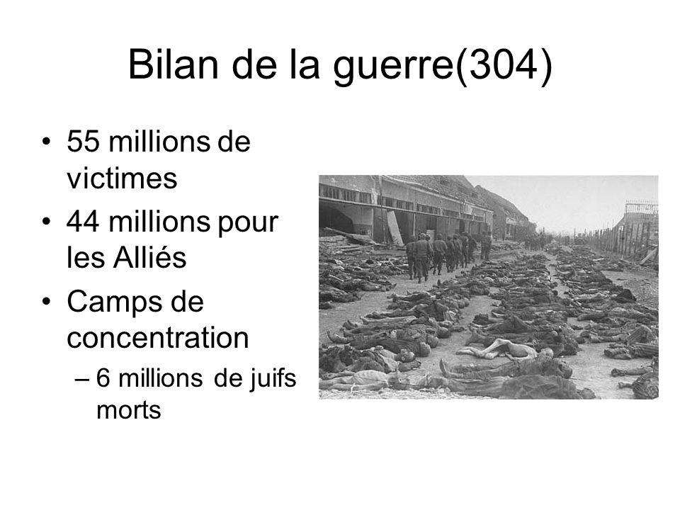 Bilan de la guerre(304) 55 millions de victimes