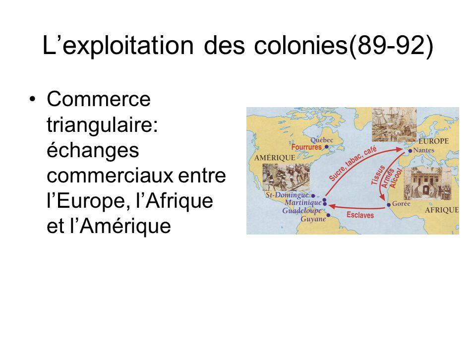 L'exploitation des colonies(89-92)