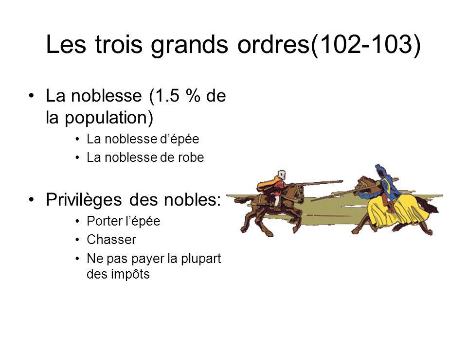 Les trois grands ordres(102-103)
