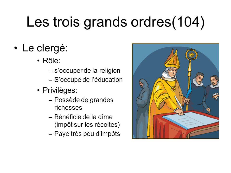 Les trois grands ordres(104)