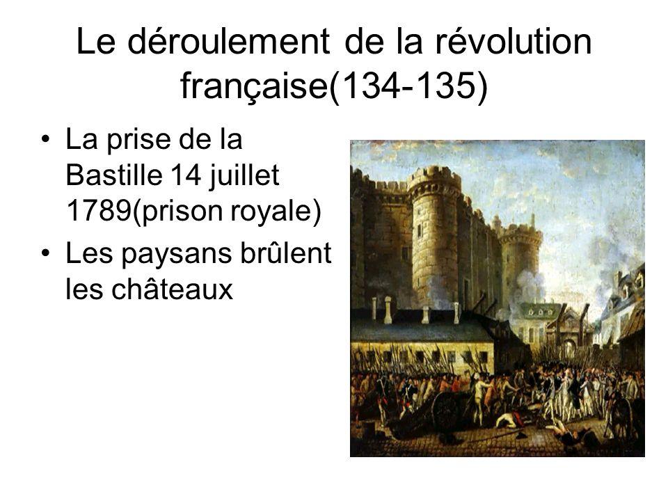 Le déroulement de la révolution française(134-135)